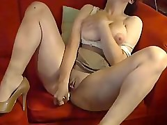 Fat Breasted Milf Masturbates