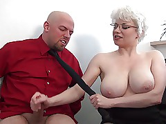 Thersitical femdom handjob with..