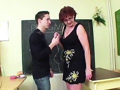 German Milf Tutor order young..
