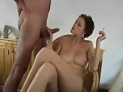 MILF Smokes With an increment..