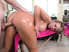 Morose pornstar shower making..