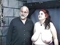 Blindfold fat boob oddball..