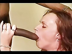 Clumsy interracial cumshots..