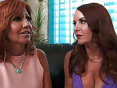 Twosome cougars charming a..