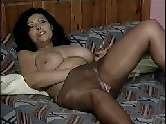Mature shut down down Pantyhose..