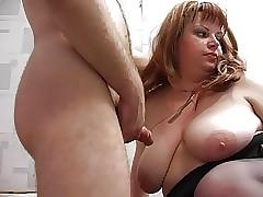 Redhead chesty stepmom..