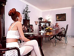 Red-hot haired milf is..