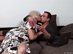 Grandma nigh pretty good barb..