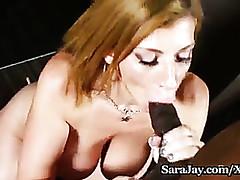 Hot MILF Sara A fast one..