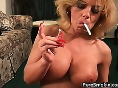 Whacking big Boob Smoking viva..